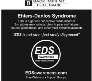 Back of Shirt 2015 EDS Awareness