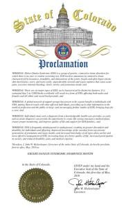 Colorado Proclamation 2016